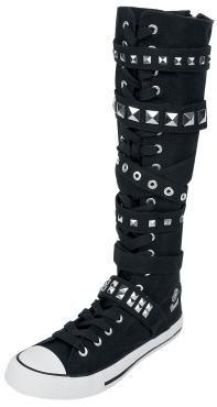 """""""Brandit"""" - """"Hurricane""""  Extra hohe Sneaker mit einer Schafthöhe von 35 cm und Reißverschluss auf der Rückseite. Die Schaftweite beträgt je nach Schuhgröße 30-32,5 cm. Durch die breite Zunge (9,5 cm) kann der Schuh auch weiter geschnürrt getragen werden."""