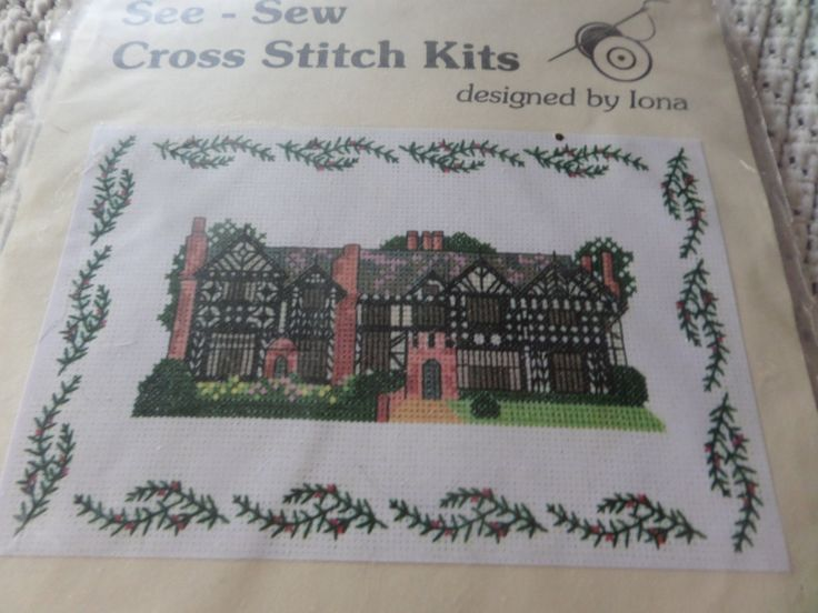 Cross stitch kit, Speke Hall Liverpool, building history, 14 count aida, charted pattern, historic building,  Liverpool England by MaddisonsRainbow on Etsy