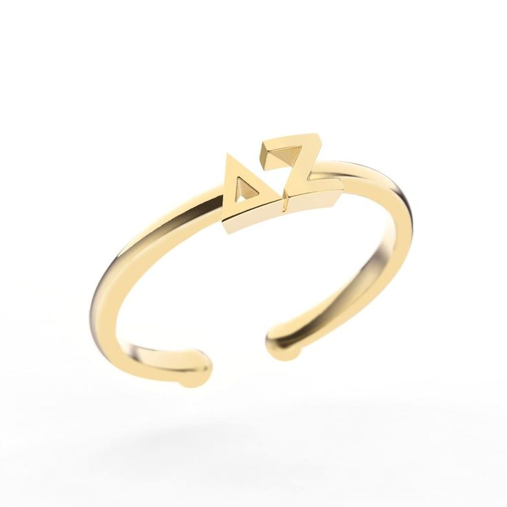 Delta Zeta Thin Band Letter Ring