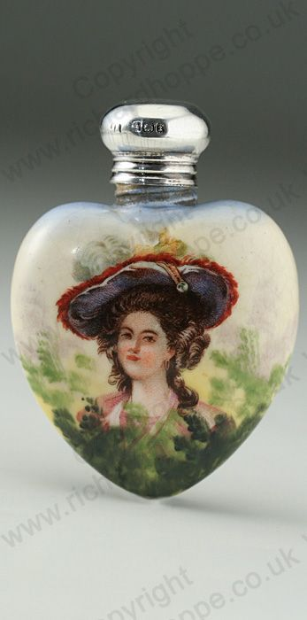 ANTIQUE 1905 PORCELAIN SCENT PERFUME BOTTLE WITH PORTRAIT MOTIF. Price: £210.00. For more information about this item click here: http://www.richardhoppe.co.uk/item.php?id=2899 or email us here: rhshopinformation@gmail.com