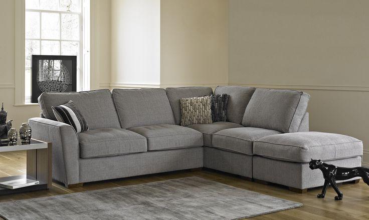 Memphis - Corner Sofabed LHF Arm Standard Back Including Free Footstool - Corner Sofas - Fishpools