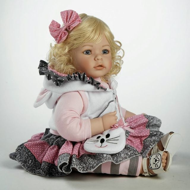 """Adora Baby Doll, 20 inch """"The Cat's Meow"""" Light Blonde Hair/Blue Eyes http://lifelikerealisticbabydolls.blogspot.com/ #Life_Like_Baby_Dolls #Baby_Dolls_that_Look_Real #Realistic_Baby_Dolls #Living_Dolls #Dolls"""