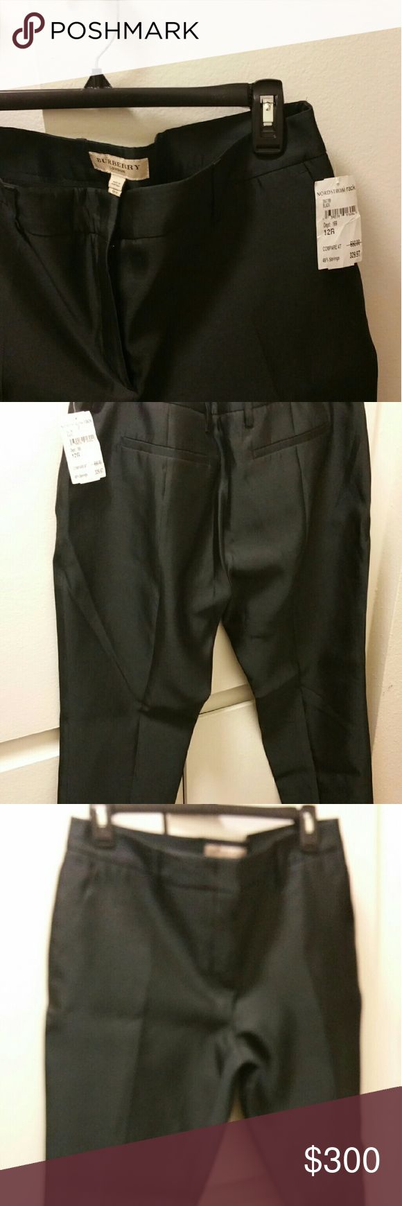 Black Burberry Ankle Pants Black ankle length Burberry Pants Ankle & Cropped