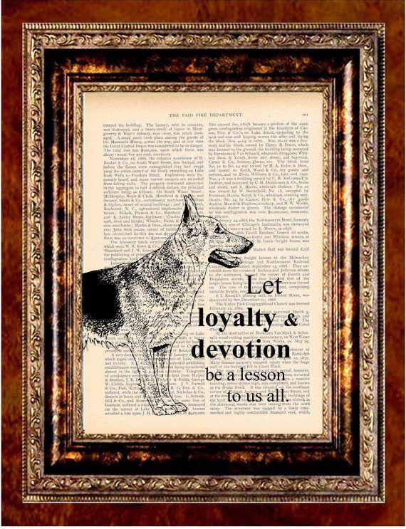 GERMAN SHEPHERD Dog Inspirational Vintage Art by newdayprints, $8.99