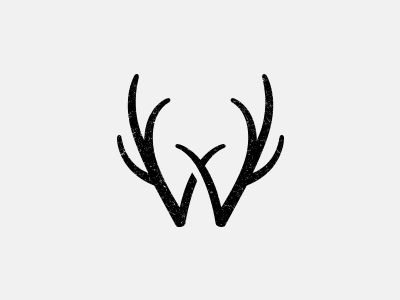 @Melanie Bauer Wieseler An awesome 'W' antler monogram. I think you guys might need this somewhere.