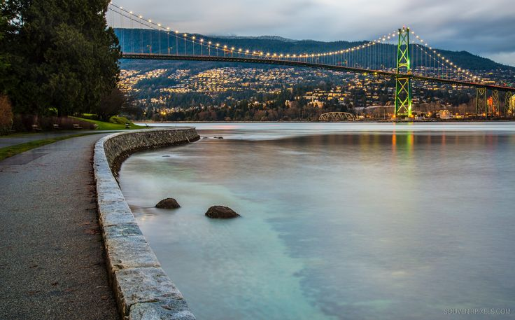 Seawall under Lions Gate Bridge