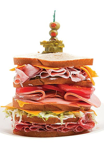 The Dagwood Recipe ~ Everybody has to do this sandwich once in a while. This is a classic! So hard to resist all that flavor. But, it's a handful! Maybe that's the best part!