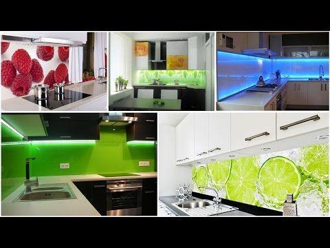 Lacobel szkło w kuchni panele szklane pomiędzy szafki kuchenne