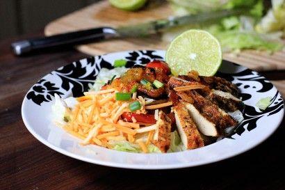Tangy Chicken Fajita Salad