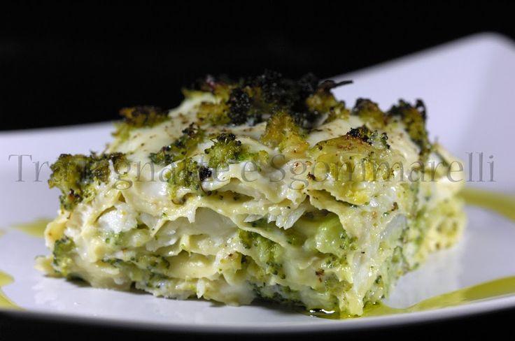 Le mie ricette - Lasagna in bianco, con pesce San Pietro e broccolo siciliano