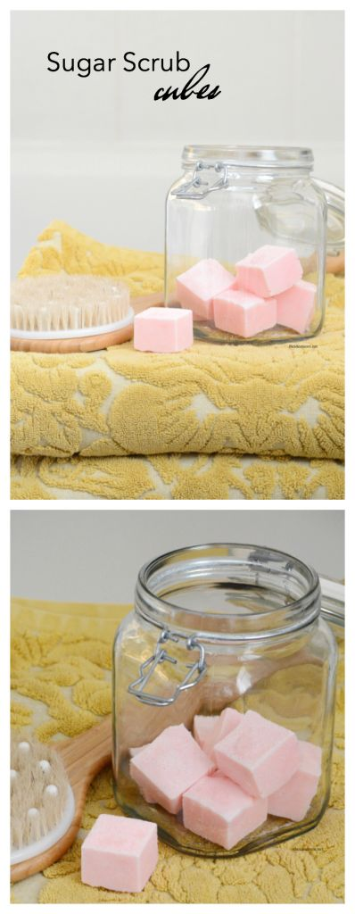 Spa Recipes | Make this Sugar Scrub Cubes Recipe for smooth, soft exfoliated skin. Perfect for a DIY gift idea for friends and family. The Idea Room