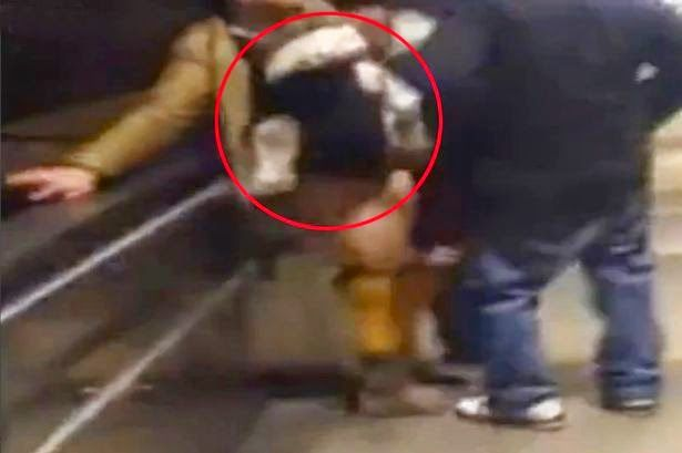 Omg The Real thing: Couple filmed having sex on subway while newborn b...