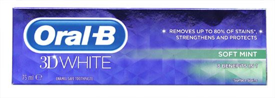 Oral-B 3D White Toothpaste Soft Mint 75ml Oral-B 3D White Toothpaste Soft Mint 75ml: Express Chemist offer fast delivery and friendly, reliable service. Buy Oral-B 3D White Toothpaste Soft Mint 75ml online from Express Chemist today! (Barcode http://www.MightGet.com/may-2017-1/oral-b-3d-white-toothpaste-soft-mint-75ml.asp