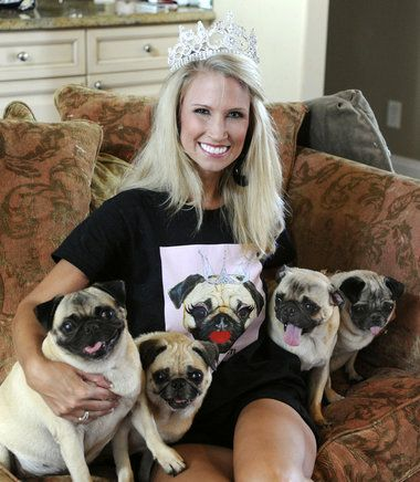 Mrs. Alabama Ashley Holt Bentley isn't practicing her pageant walk in the final days before she competes in for the National title- she's nursing her sick pug. That's love! Good luck Ashley.