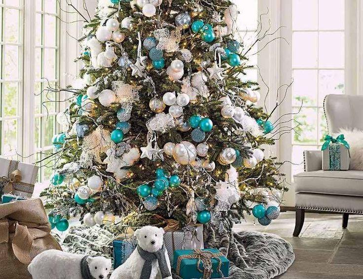 D corations no l en argent ambiance festive dans la - Odeur de sapin dans la maison ...
