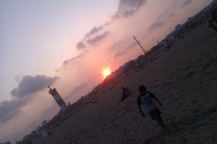 Last Sunset of this year (31/12/2014) in chennai