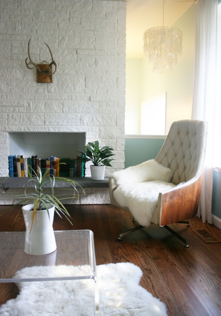 Best 25 Painted Stone Fireplace Ideas On Pinterest