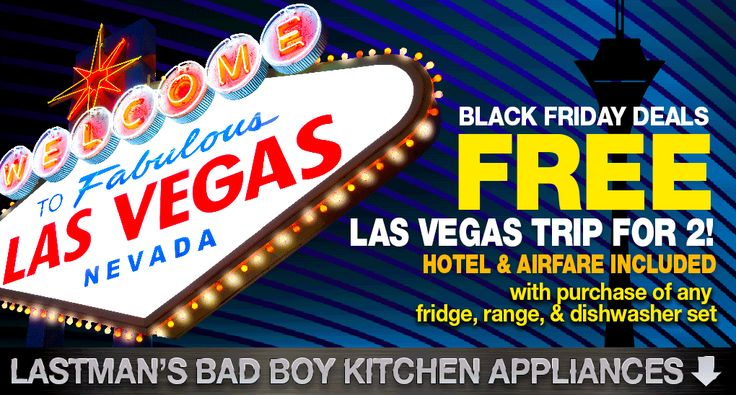 Vegas is always a good idea! Get a free trip for two to Vegas when you purchase a kitchen set!