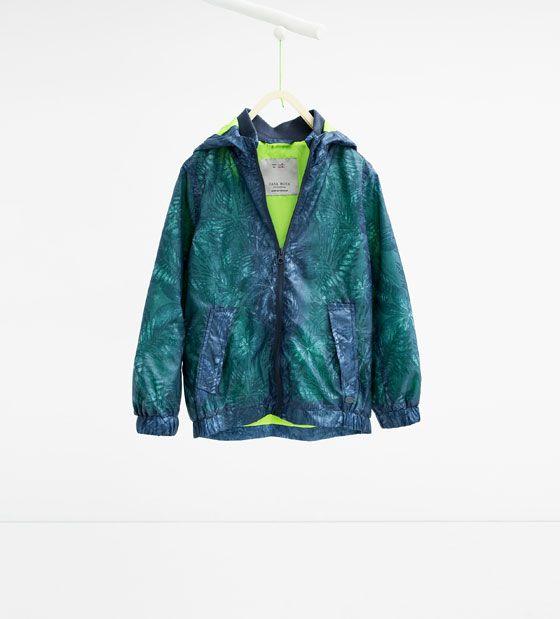 Image 1 of Leaf print jacket from Zara