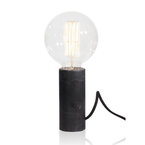 Marble table lamp-black
