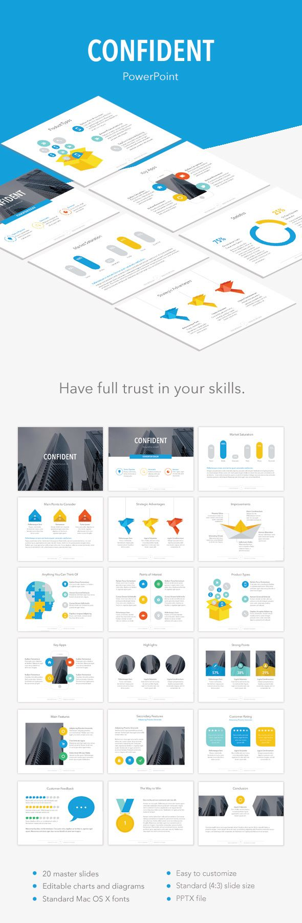 Confident PowerPoint Template. Download here: http://graphicriver.net/item/confident-powerpoint-template/14726315?ref=ksioks
