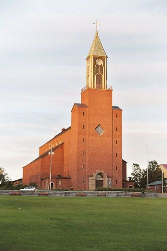 Church in Ostersund, Jamtland, Sweden