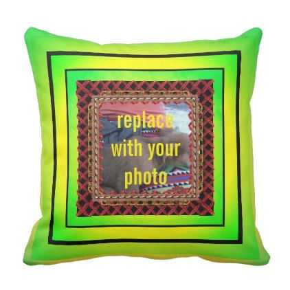 Customizable Pillow (Photo Frame/Text) - home gifts ideas decor special unique custom individual customized individualized