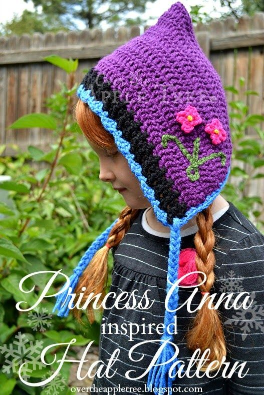 Free crochet pattern hat Princess Anna inspired crochet hat with pattern»Over The Apple Tree