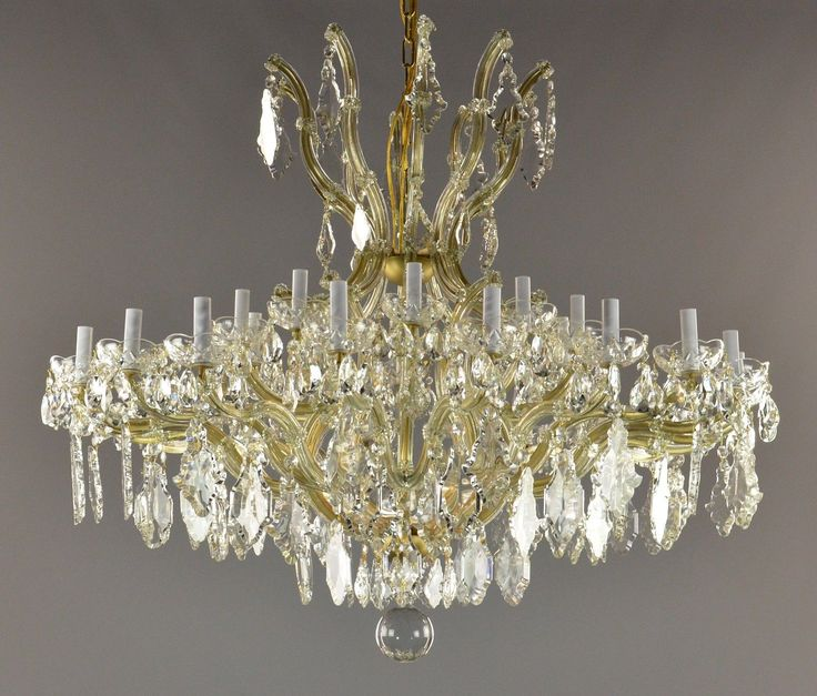 124 best chandeliers antiquelighting images on pinterest marie therese crystal brass chandelier c1940 offered here is a very large vintage marie therese mozeypictures Choice Image