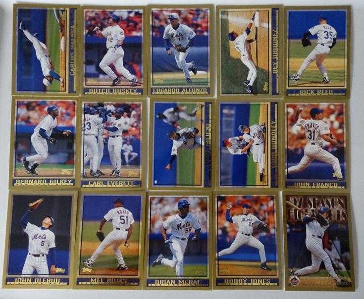1998 Topps Series 1 & 2 New York Mets Team Set of 15 Baseball Cards #topps #NewYorkMets