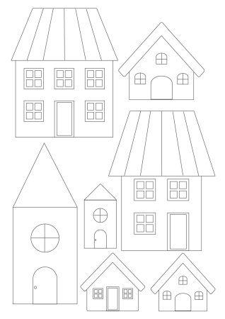 Gabarit maison à télécharger en A4 au format PDF pour couture, bricolage, scrapbooking, gabarit à découper, gabarit à télécharger, gabarit à imprimer https://soukietmelilia.wordpress.com/2015/08/16/gabarits-maisons-a-telecharger/