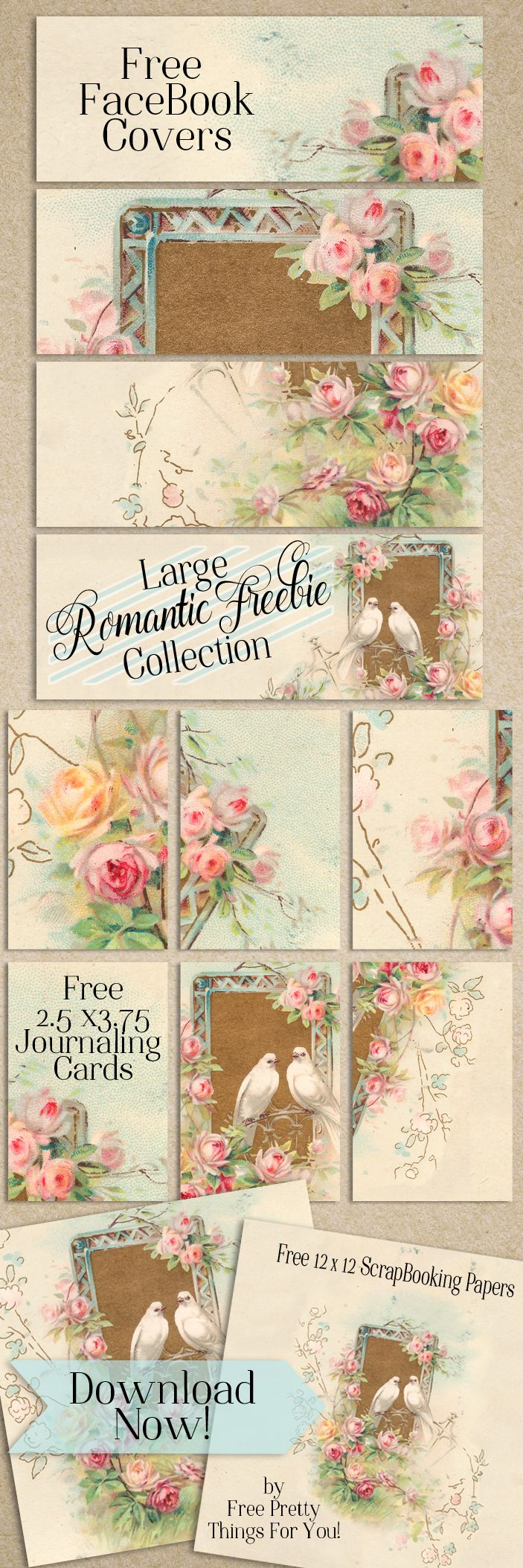 Large Romantic Image Freebie Collection - Free Pretty Things For You