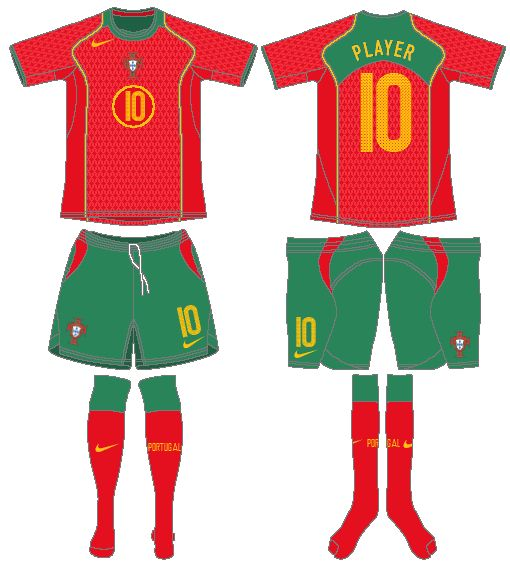 Portugal | home jersey | 2004-06
