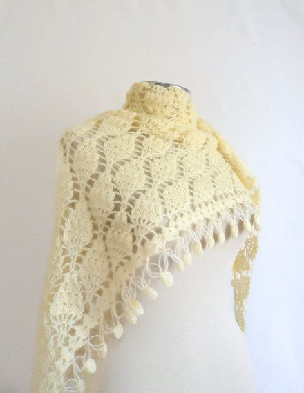 Mother's Day Gifts SHAWL Ivory Wedding bridesmaid by modelknitting