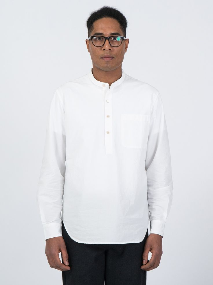 3/4 Band Shirt in white - http://bit.ly/1Ou6Qdn