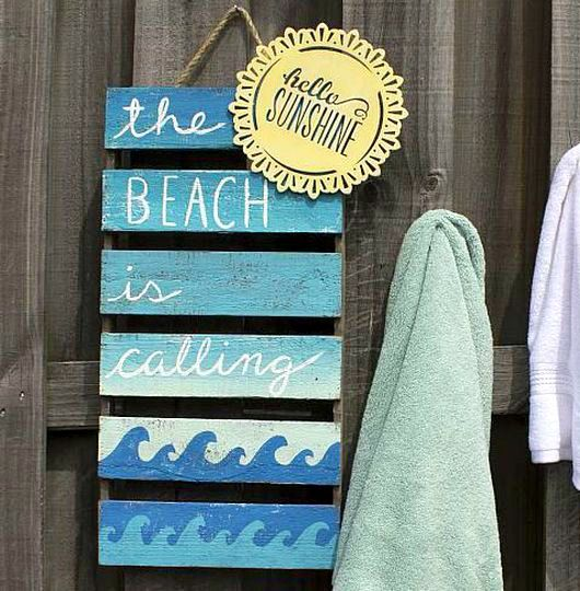The Beach is Calling Wood Plaque Sign DIY... http://www.completely-coastal.com/2017/02/diy-beach-sign-ideas-michaels-with.html