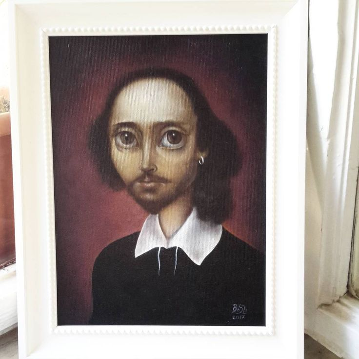 Shakespeare: a pop-surrealist oil painting by Szilvia Boda on instagram :)