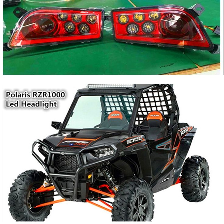 172.00$  Buy here - http://alioiy.worldwells.pw/go.php?t=32775041356 - Red Polaris RZR Accessories UTV ATV LED Headlight kit Lamp for Polaris Razor 1000 2014-2016 RZR XP 4 1000 2016 RZR XP 4 TURBO