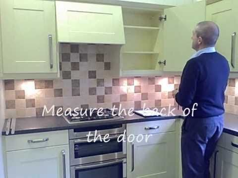 Replacement Kitchen Doors - How to measure and fit kitchen doors and drawer fronts - YouTube