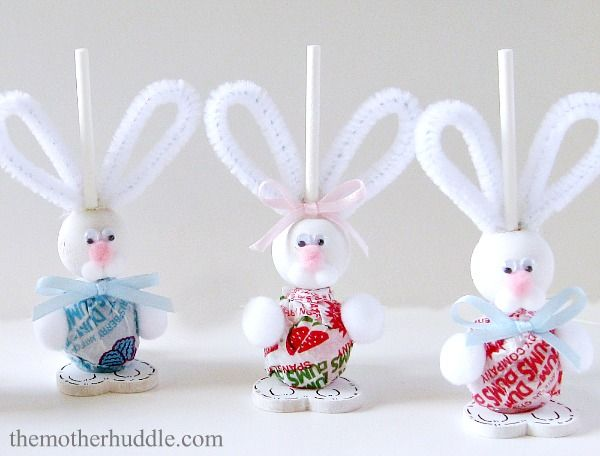 How to Make Easter Bunny Suckers with Dum Dum Pops