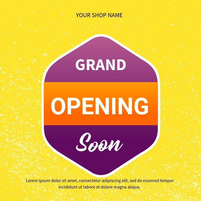 Pin On Grand Opening Flyer Templates