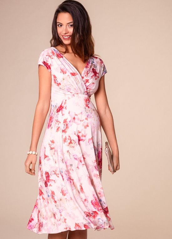 Queen Bee Alessandra Floral Maternity Dress in English Rose by Tiffany Rose