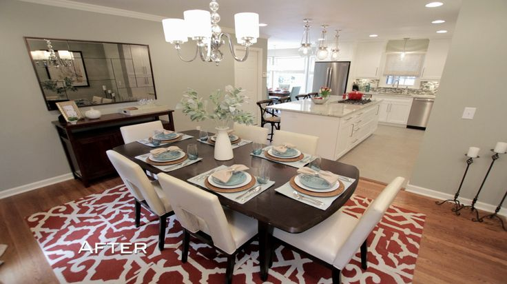 Nadine and greg 39 s dining room has quoizel downtown over for Property brothers dining room designs