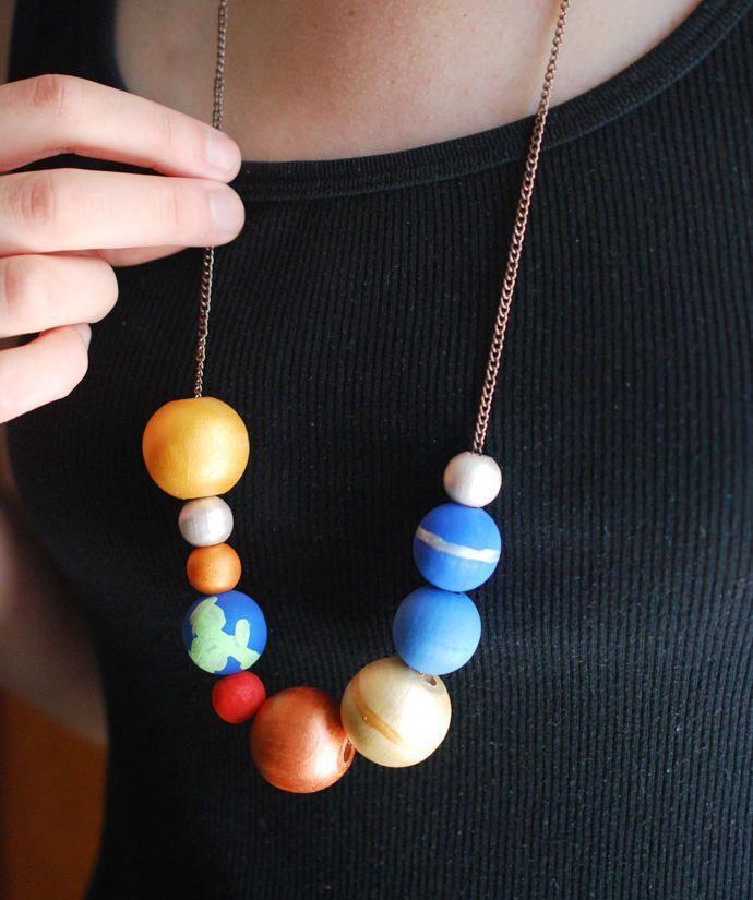 Ordinary Craft Ideas For Kids Solar System Part - 14: Make A Stellar Solar System Necklace