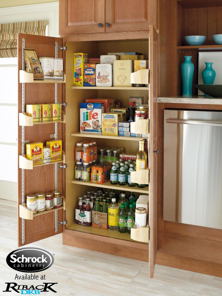 Food Storage Cabinet With Doors 7 Best Pantry Images On Pinterest  Kitchen Organization Kitchen