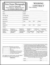 Free Wedding Photography Contract Forms