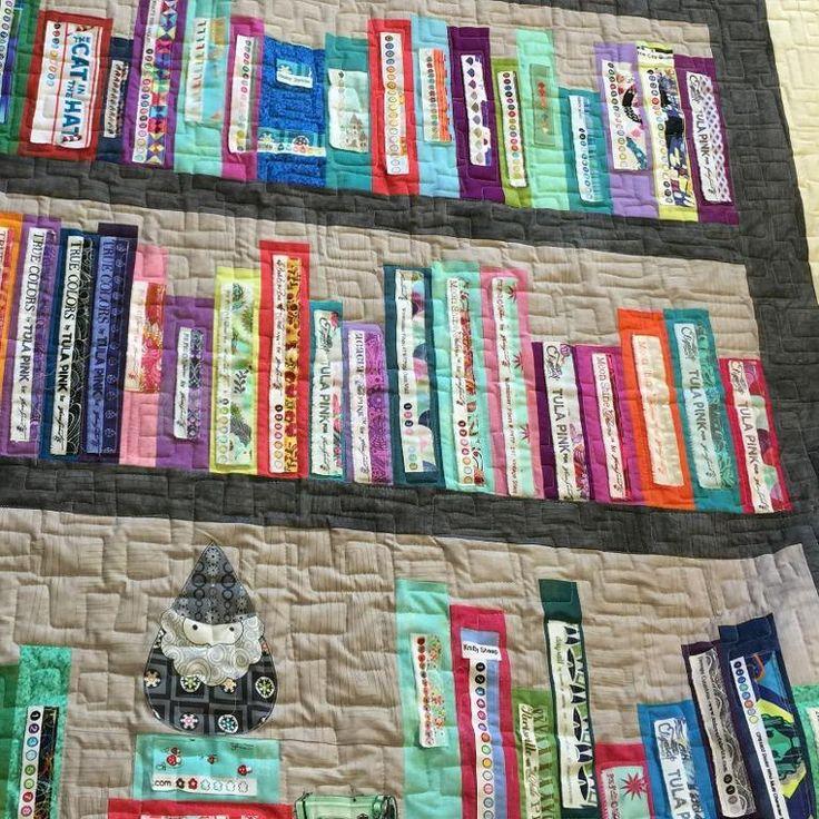 Selvage Bookshelf Quilt