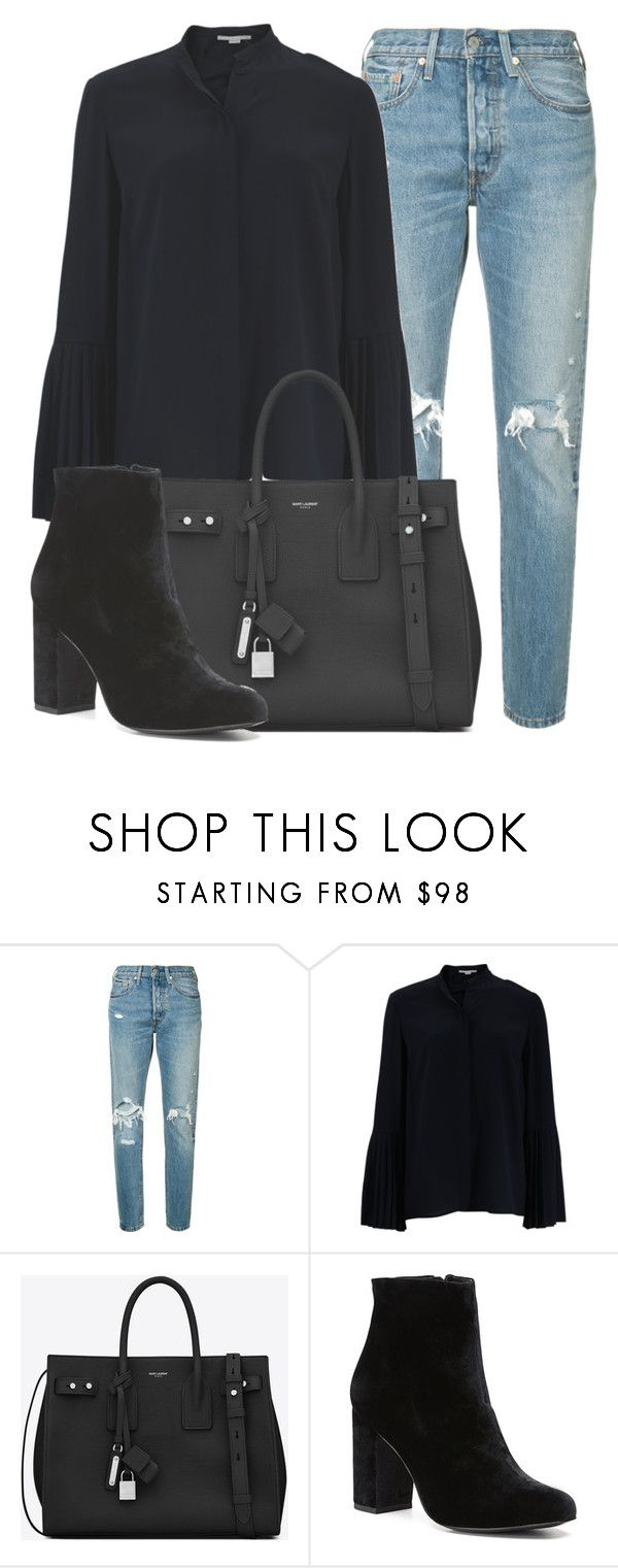 """Outfit #1655"" by lauraandrade98 on Polyvore featuring Levi's, STELLA McCARTNEY, Yves Saint Laurent and Witchery"