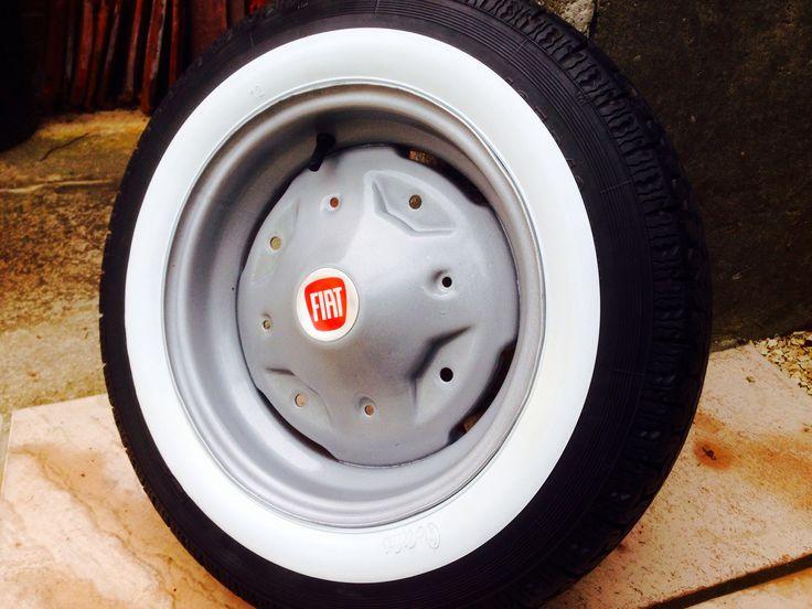 Classic Fiat 126 wheel restored