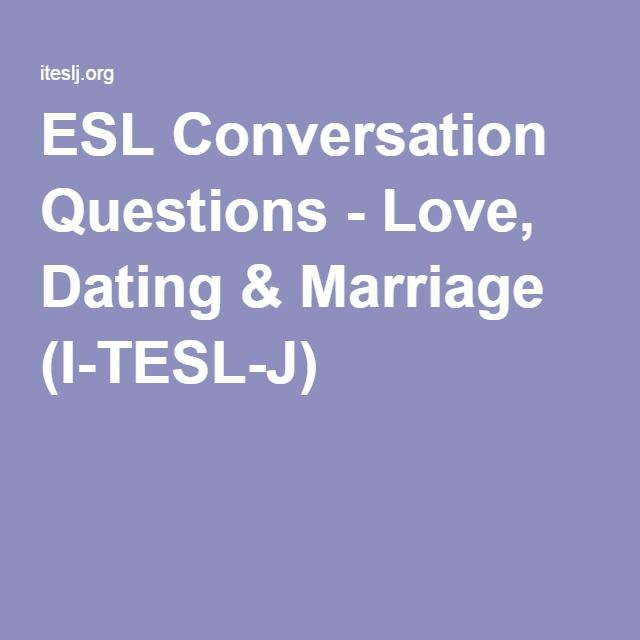 esl questions about online dating